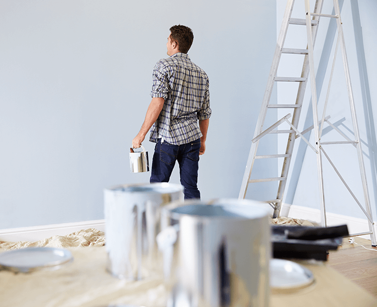 Man painting room